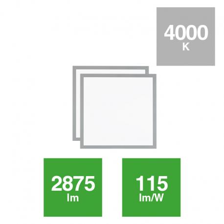 Panel Slim Alta Efic. Rígido 2x25W