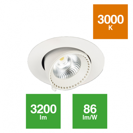 Downlight Acentuación Orientable 37W 36º