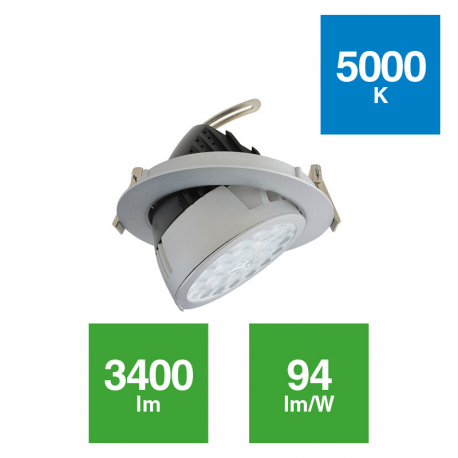 Downlight Acentuación Orientable 36W